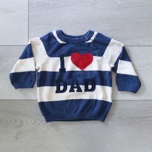 I Love Dad Sweater - 4-6 M